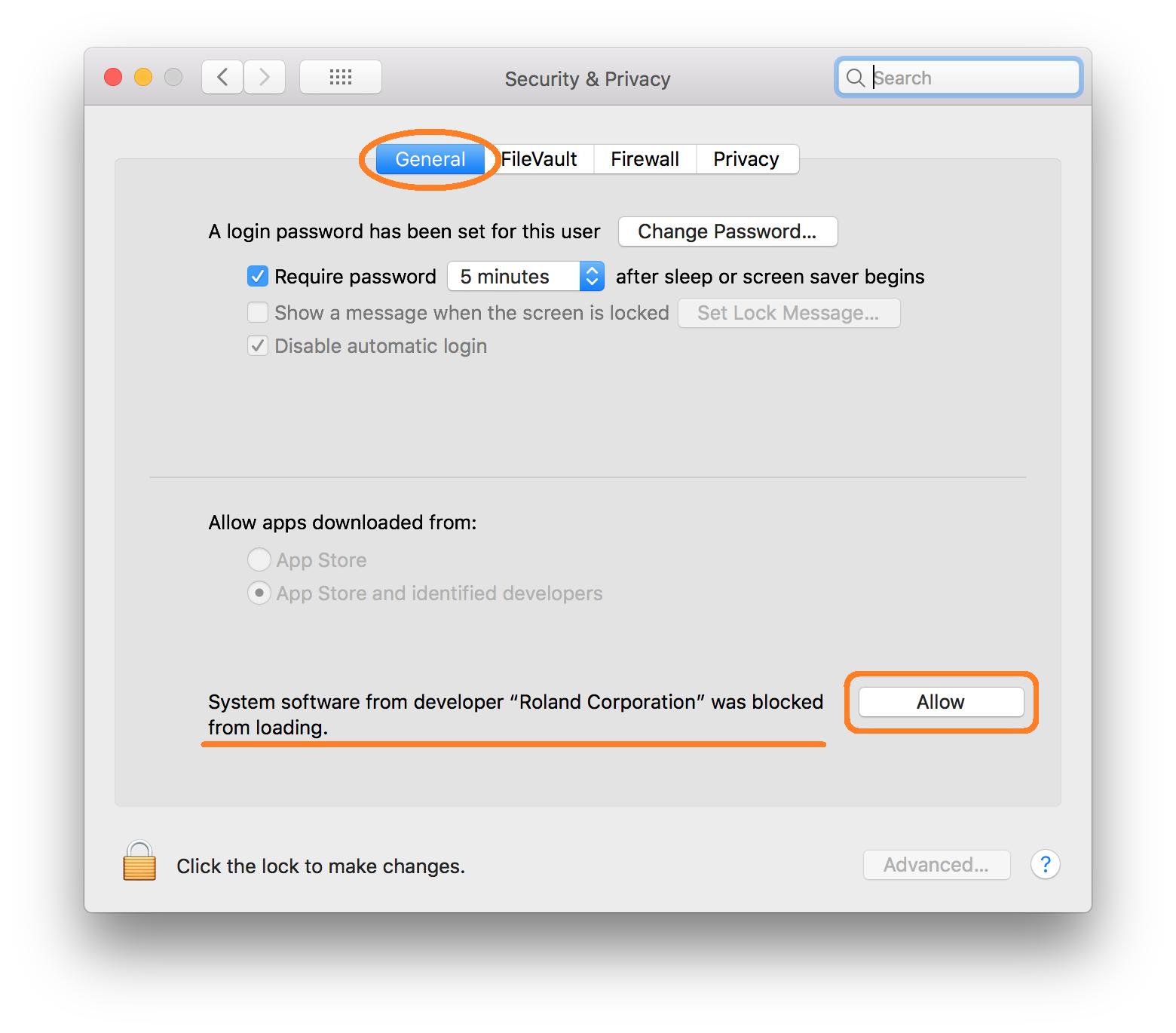 Katana - install USB driver on macOS 10 13 (High Sierra)